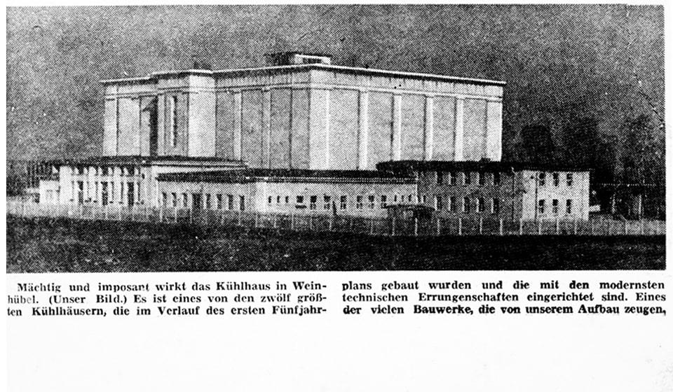 Ein Zeitungsartikel zur Eröffnung 1954