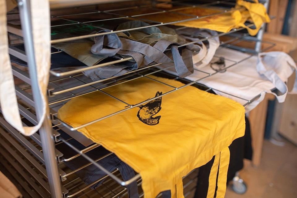 Jetzt nur noch Trocknen lassen und vor dem ersten Waschen bügeln!